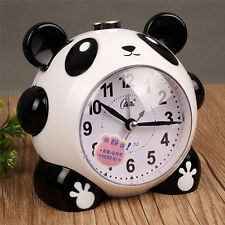 Cute Panda Silent Non-Ticking Sound Night Light Chord Music Bell Alarm Clock