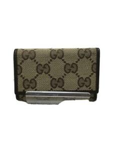 Gucci 6 Series Gg Beige Canvas Brown Fashion Key case 992 From Japan