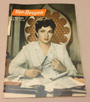 GINA LOLLOBRIGIDA FRONT COVER + MAX FACTOR BACK COVER VTG Danish Magazine 1952