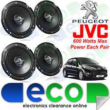 """Peugeot 207 2006 JVC 16cm 6"""" 1200 Watts 2 vías frente y parte trasera 3 puertas altavoces del coche"""