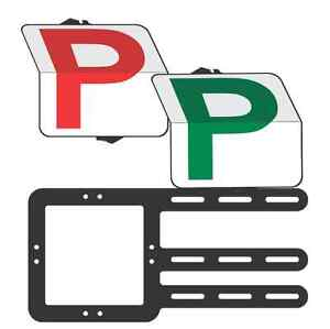 """Provisional  Driver """"Rippa"""" Pack  Red P and Green P  Plate - Clip Plate"""
