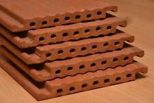 5 Stck. Tonziegel 18 cm, Strangfalz, Ziegel, Niströhre, Nisthilfe, Wildbienen
