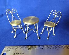 Bistro Ice Cream Cafe Table Set Chairs Furniture Dollhouse Miniature