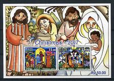 Sri Lanka 2017 MNH Christmas Nativity 2v M/S Seasonal Stamps
