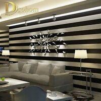 Pink Black White Deep Embossed Vertical Stripes Wallpaper For Walls 3D Designs
