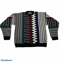 Vintage Concrete Mix Sweater Mens Size XL 90s Textured Coogi Style Biggie Cosby