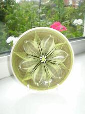 Alvingham Pottery Flower Trinket Dish Green Flower 1986 British