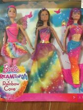 Barbie Dreamtopia Rainbow Cove 3 Doll Gift Set - Mermaid, Princess and Fairy