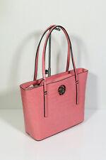 Neu GUESS Handtasche City Shopper Schultertasche Open Road Rose Kroko Rosa 129