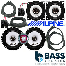 Fiat Grande Punto / EVO ALPINE 800 Watt 2 Way Front & Rear Door Car Speakers Kit