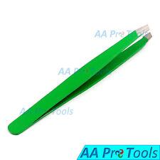 Green-Color Professional Mini Eyebrow Tweezers Baby Tweezers Slanted Tips