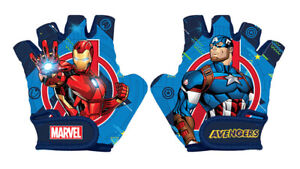Marvel AVENGERS Kids Bike Cycle Padded Gloves Half Finger Bicycle Size S