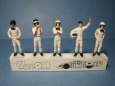 5  FIGURINES  1/43  SET 246  DRIVERS  PILOTES  1960  VROOM  UNPAINTED  FIGURES