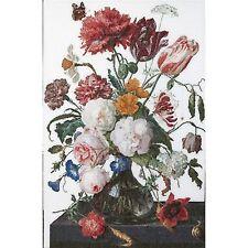 Thea Gouverneur  785A  Fleurs dans un vase - Jan Davidsz  Point de Croix  Compté