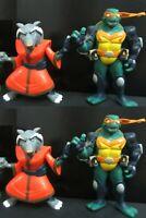 """Lot of 4 Teenage Mutant Ninja Turtles MASTER SPLINTER Michelange FIGURE 2"""""""