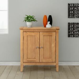 Small Oak Storage Cupboard   Wooden Hallway Cabinet Shoe Organiser Bathroom Unit