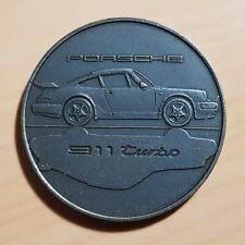 Porsche Münze Medaille 1991 Porsche 911 Turbo - ORIGINAL