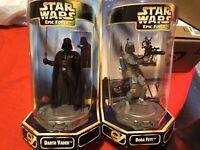 Star Wars Epic Force Boba Fett and Darth Vader Rotating Figure 360 Kenner 1997