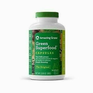 Amazing Grass Green Superfood 150 Capsules Super Greens with Spirulina Chlorella