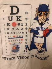 NEW T-shirt Duke 1999 NCAA National Champions Men's Basketball Adult Large