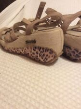 Womens Platform sandals size 5 , Brazilian shoes used in good condition