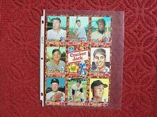Mickey Mantle Al Kaline Tony Oliva Harmon Killebrew Cracker Jack Sheet Oddball