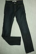 JEANS WEST indigo blue tummy trimmer high waisted straight jeans size 7 NWOT