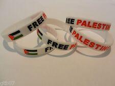 Five Flag White Free Palestinian Silicone Unisex Bracelet Palestine Wristband