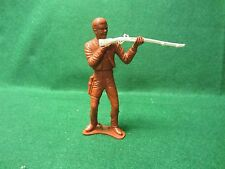 "Vintage Western 5"" Tall Plastic Toy Cowboy With Rifle"
