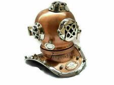 """Antique 6"""" Diving Helmet Solid Brass halloween Shine Mini Nautical Divers Helmet"""