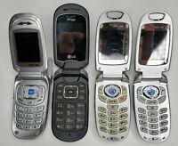 Random Lot Of Flip Phone For Parts.  Untested, used.  Samsung & LG verizon
