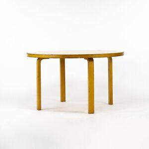 1960s Alvar Aalto for Artek & ICF Bent L Leg Round Dining Table No. 91 in Birch