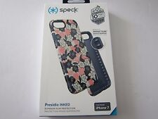Speck Products Presidio Inked Case for iPhone 7 Floral Peach/Blue New