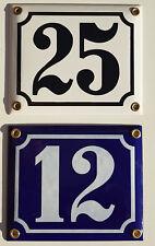 Emaille Email Tür Schild Hausnummer Hausnummern 12x10cm NEU inkl. Schrauben