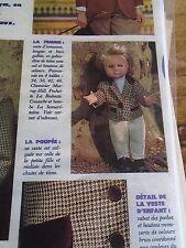 """T8 PATRON POUPEE"""" EMILIE  MODES ET TRAVAUX"""""""" VESTE D'ECUYERE  OCTOBRE 1989"""
