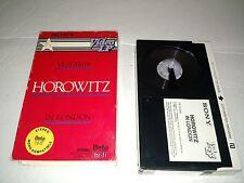 Vladimir Horowitz in London SONY BETA not VHS Betamax hi-fi stereo - former rent