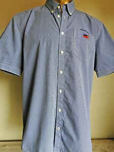 Engbers Regular Fit Herrenhemd Gr. XL Kurzarm Blau/Weiß kariert Baumwolle