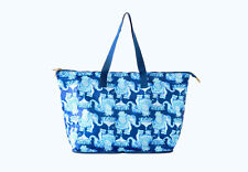 Lilly Pulitzer NWT Getaway Packable Tote Bag in Deep Indigo Joy Ride $68