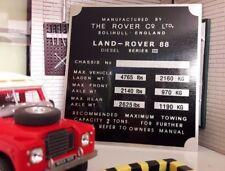 Land rover série 3 cloison boîte vitesses/boîte de transfert plaque châssis 88 swb diesel