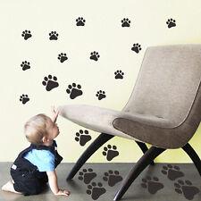 DIY 22 Dog Cat Paw Print Decors Car Wall Sticker Home Wheelie Bin Decal YA9C