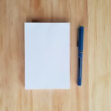 4 X 6 Blank Notepads 60 Opaque Paper 60 Sheets Per Pad 5 Pack