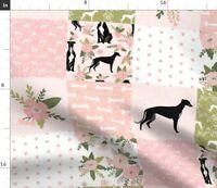 Greyhound Greyhounds S Nursery Dog Dogs Spoonflower Fabric by the Yard