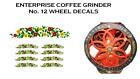 Enterprise MFG. Co. No. 12 Coffee Grinder Mill Wheel Restoration Decal Set