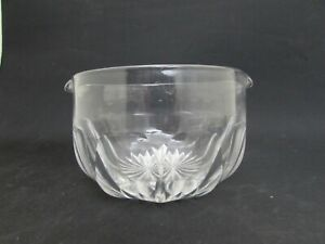 Antique Hand Blown Glass Wine Rinser, Double Spouted Glass Bowl, Crystal