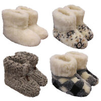Merino's Natural Sheep Wool Boots Cozy Foot Slippers Sheepskin Womens Ladies
