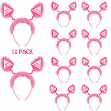 Hen Party Head Boppers with Fur Girls Ladies Night Out Pink Headband x10