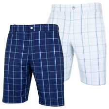 Callaway Mens Large Fashion Plaid Golf Active Stretch Shorts 40% OFF RRP
