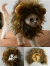 Lion Mane Wig for Cats and Small Dogs Lion Hair Cat Clothes Dress Soft Faux Fur