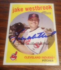 Jake Westbrook Indians 2008 Signed Autographed Topps Heritage Card #206 ~ COA