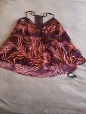 ROSIE FOR AUTOGRAPH Satin Printed Strappy Camisole Top Size 20